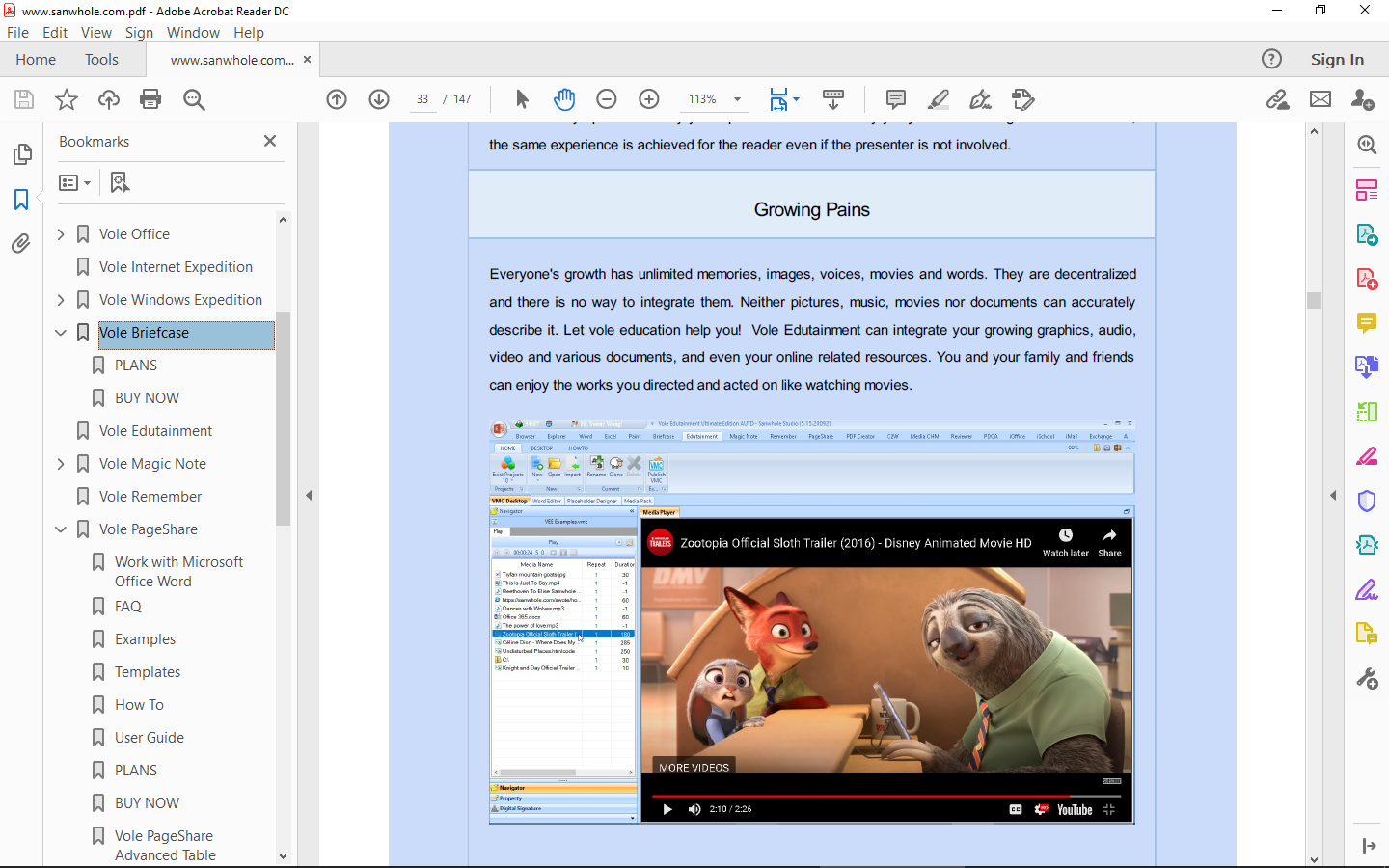 Vole PDF Creator Screenshot