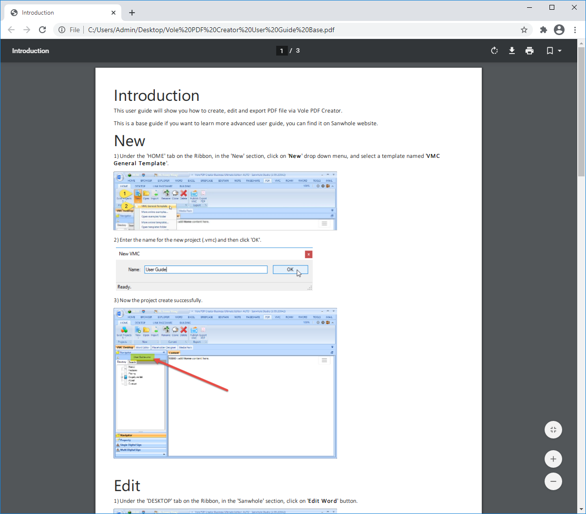 Vole PDF Creator Professional Edition Screenshot 10