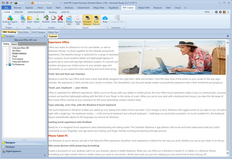 Vole PDF Creator Professional Edition, PDF Conversion Software Screenshot