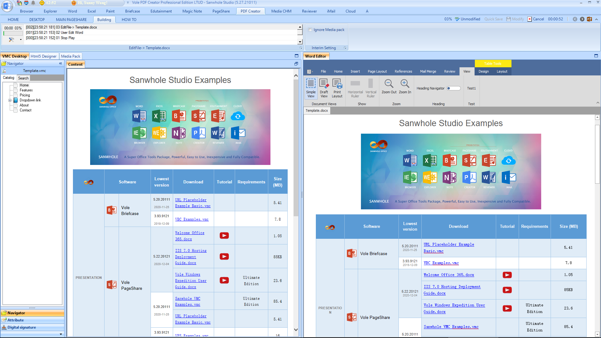 Vole PDF Creator Professional Edition Screenshot 9