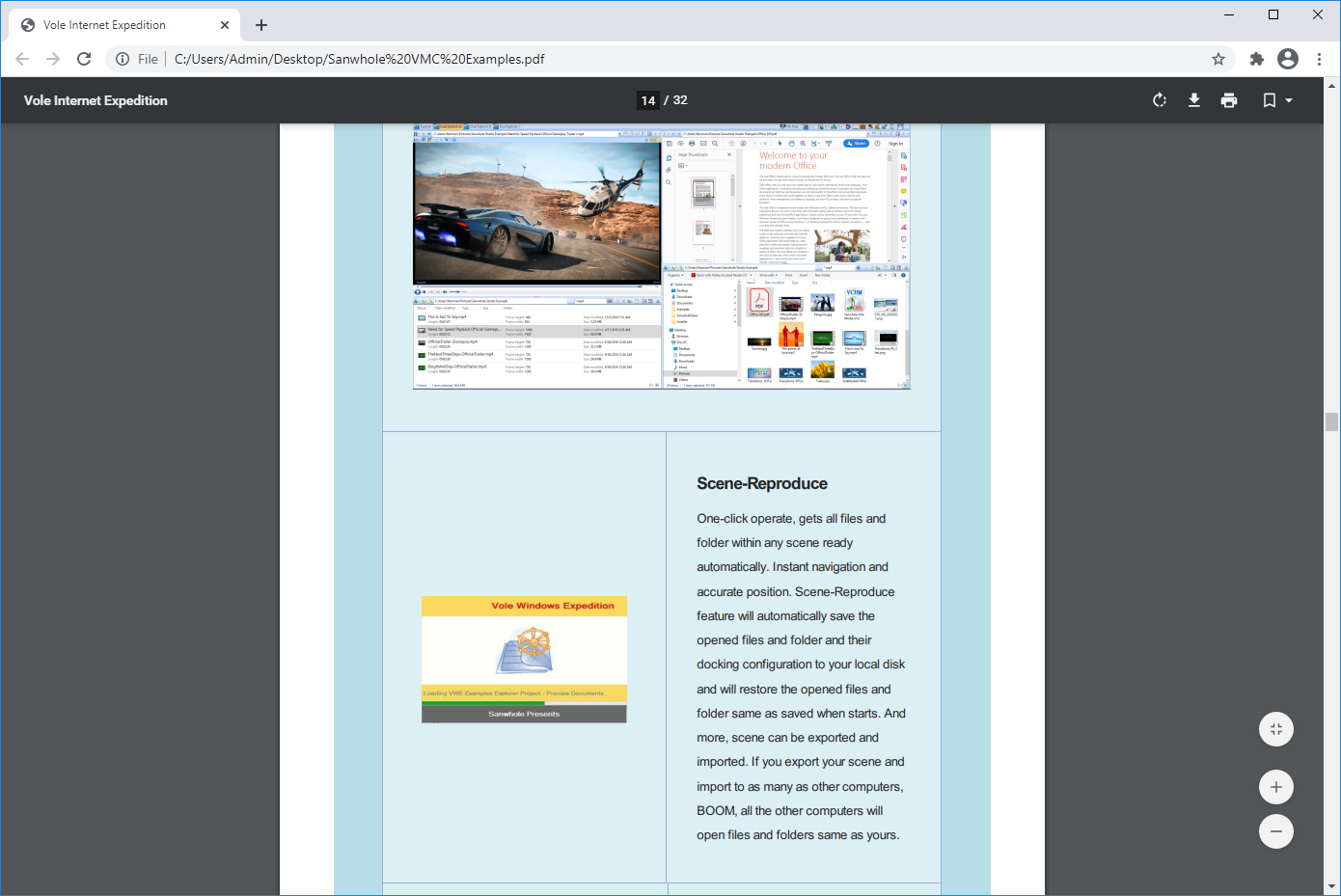 Vole PDF Creator Professional Edition, Business & Finance Software, PDF Conversion Software Screenshot