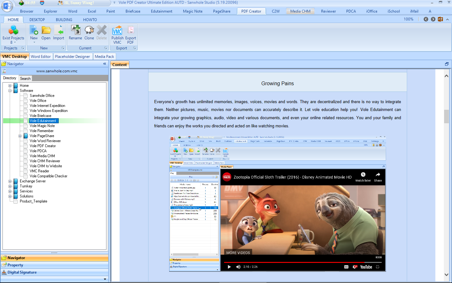 Vole PDF Creator, Business & Finance Software Screenshot