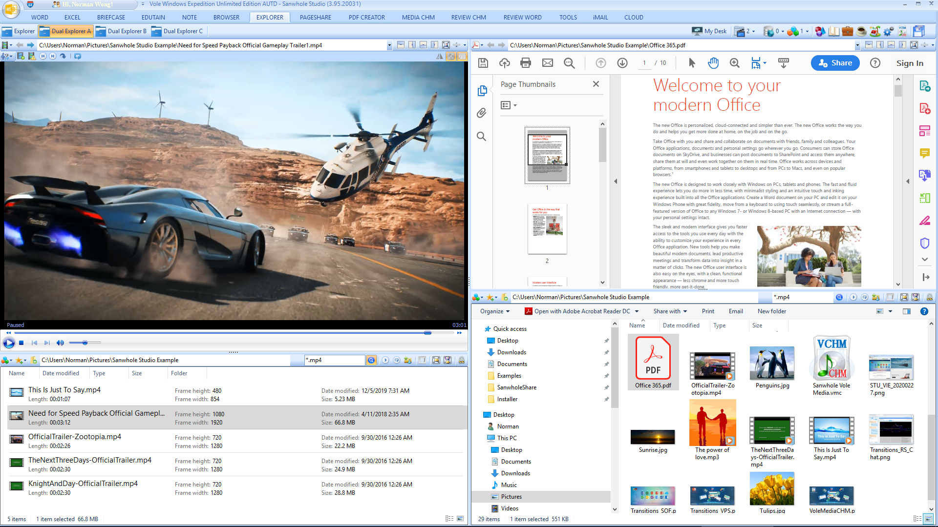 Vole Windows Expedition Ultimate Edition, Software Utilities Screenshot