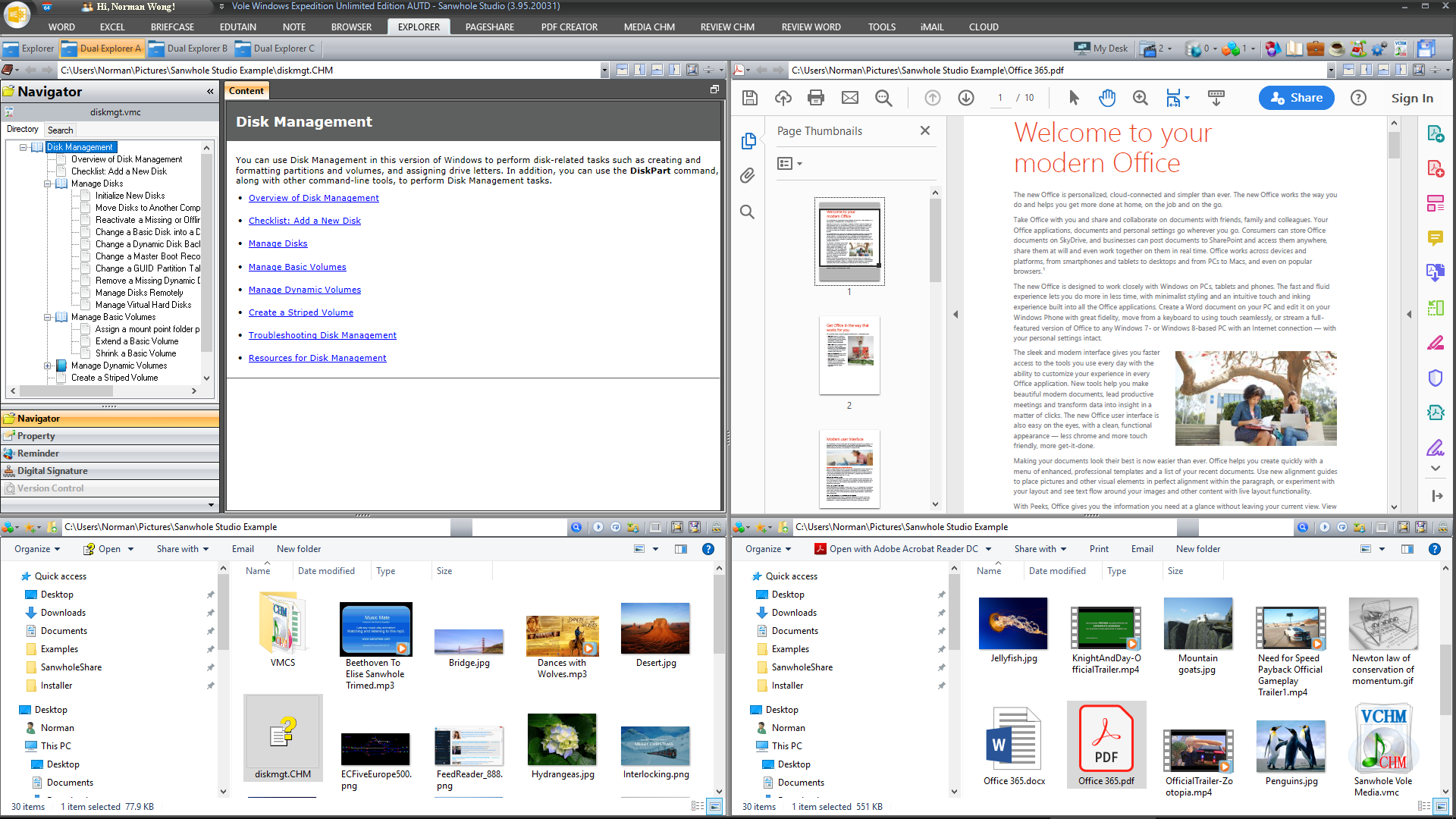 Software Utilities, Vole Windows Expedition Ultimate Edition Screenshot