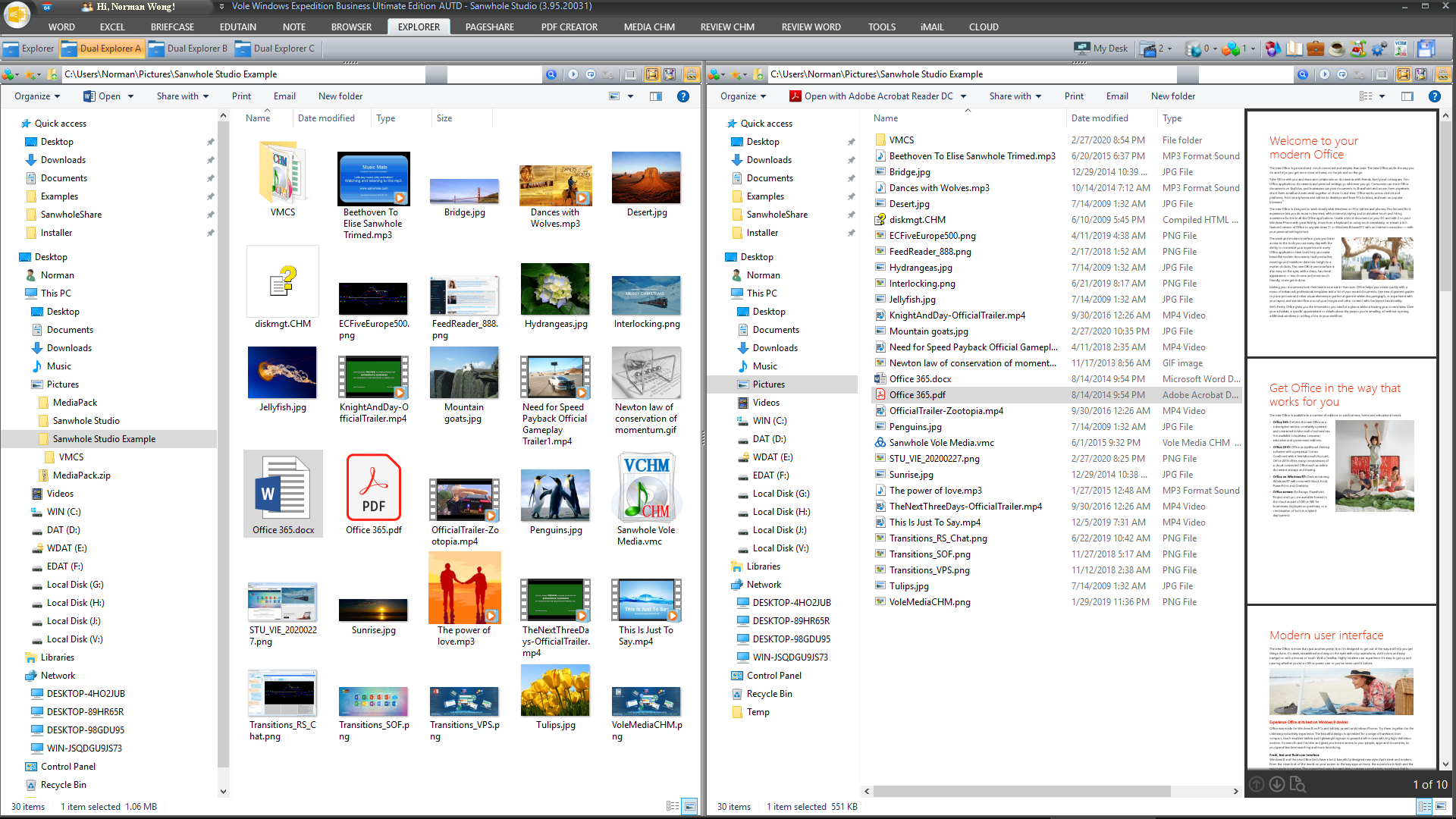 File Management Software, Vole Windows Expedition Ultimate Edition Screenshot