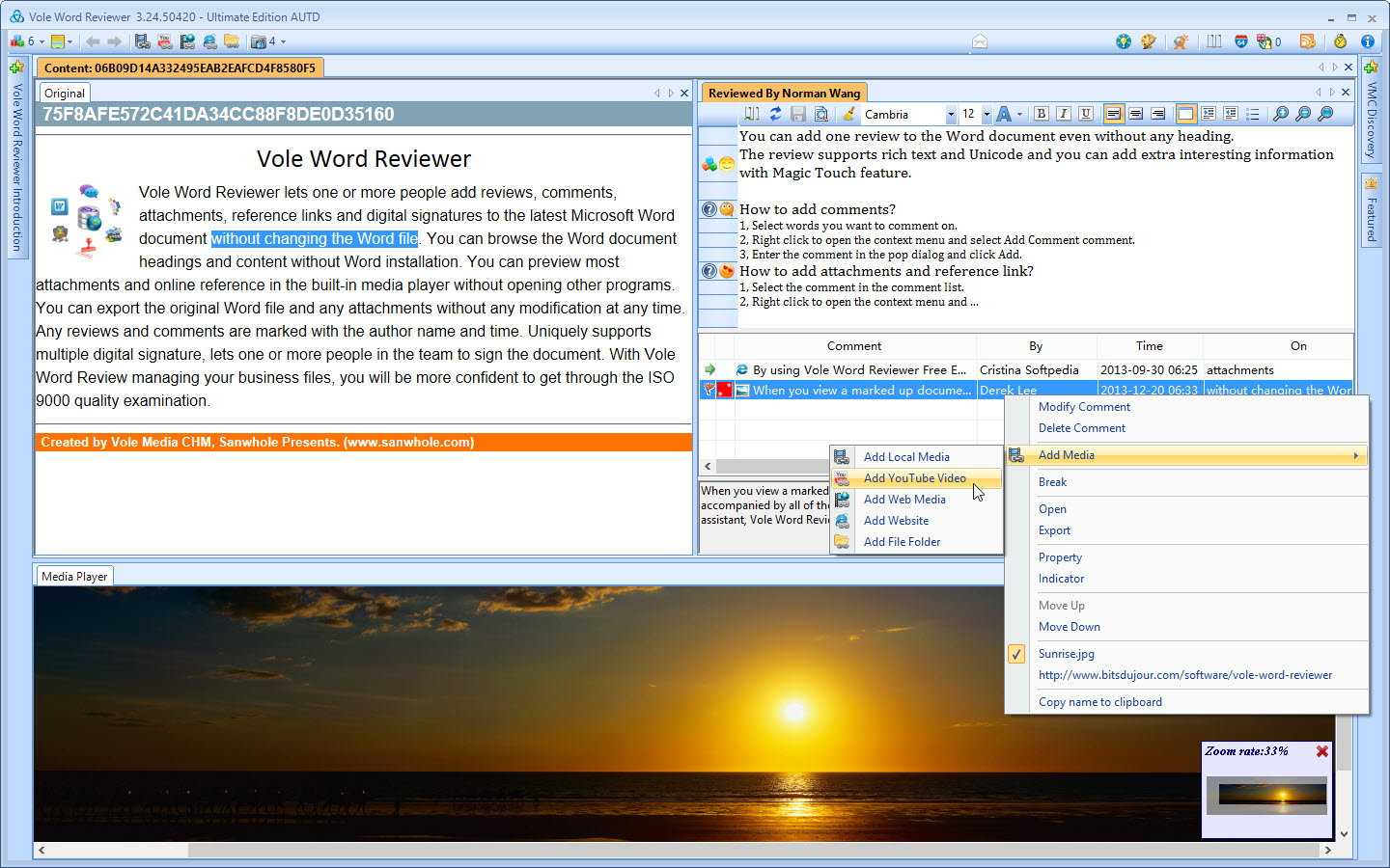 Vole Word Reviewer Ultimate Edition, Writing and Journaling Software Screenshot