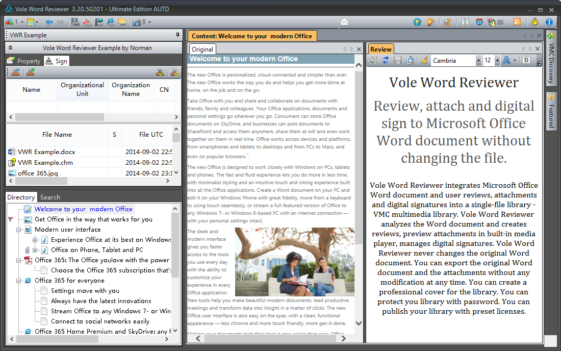 Writing and Journaling Software, Vole Word Reviewer Ultimate Edition Screenshot