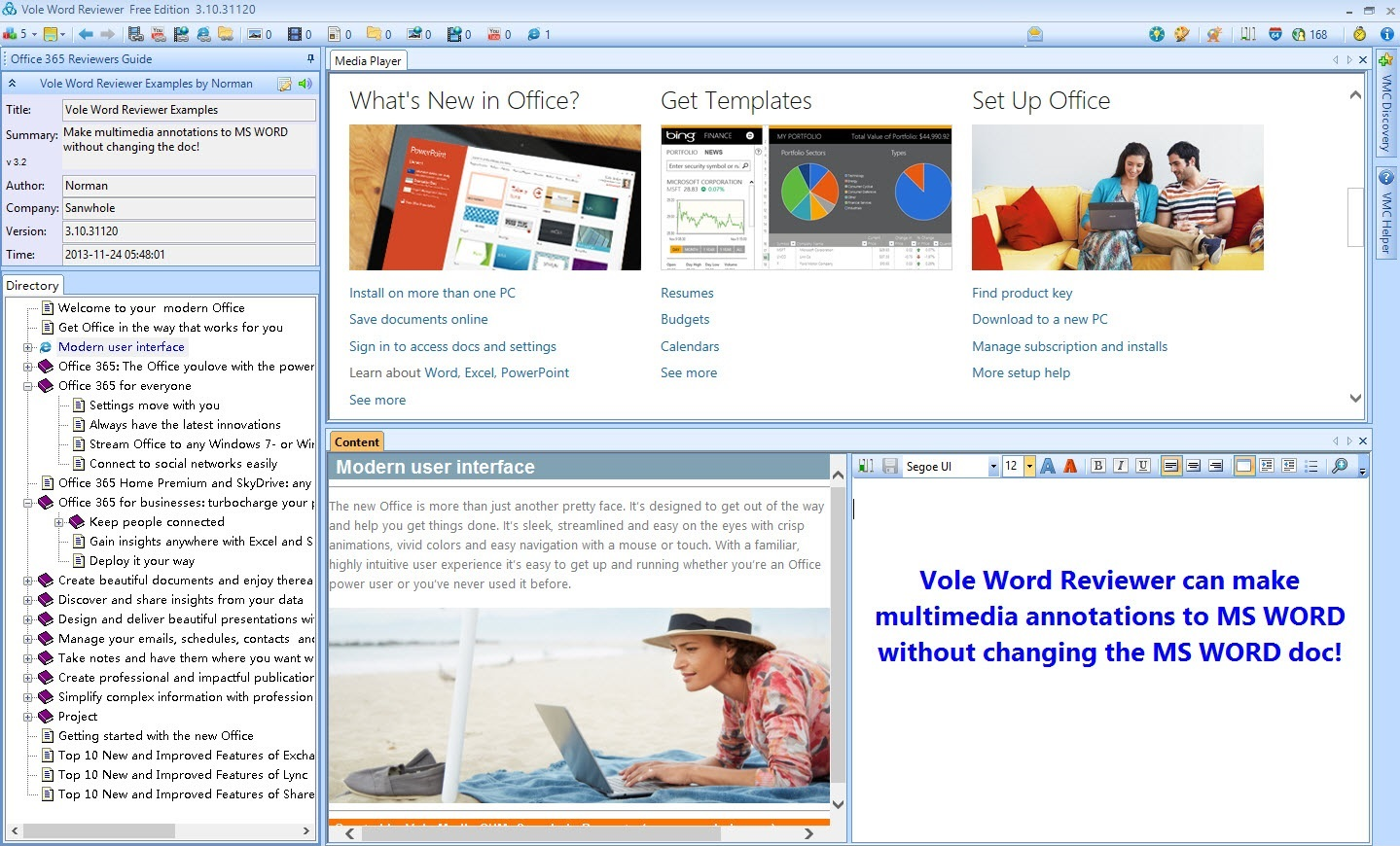 Vole Word Reviewer Ultimate Edition Screenshot