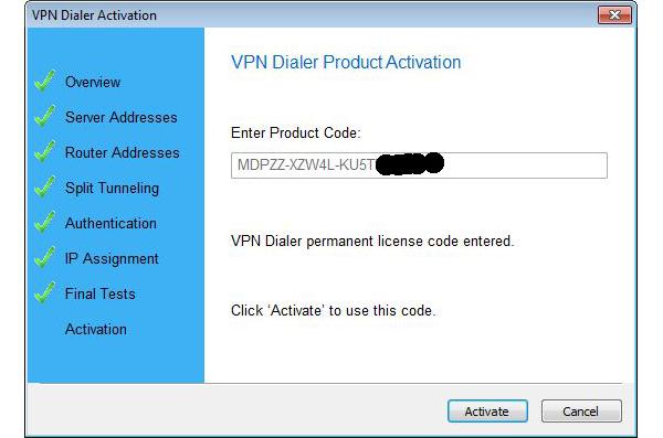 VPN Dialer 2012, Internet Software, Network Connectivity Software Screenshot