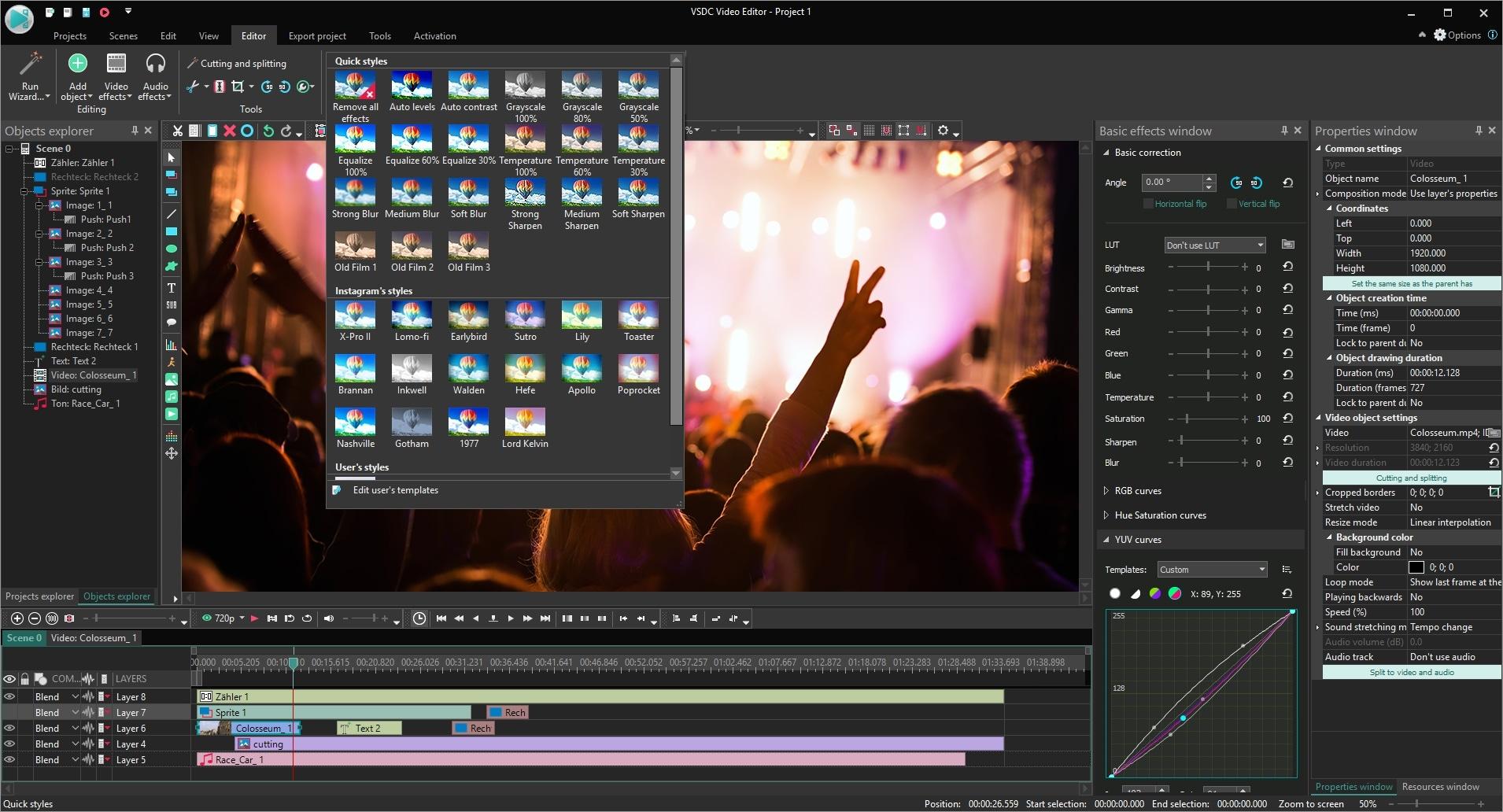 VSDC Pro Video Editor Lifetime License, Video Software Screenshot