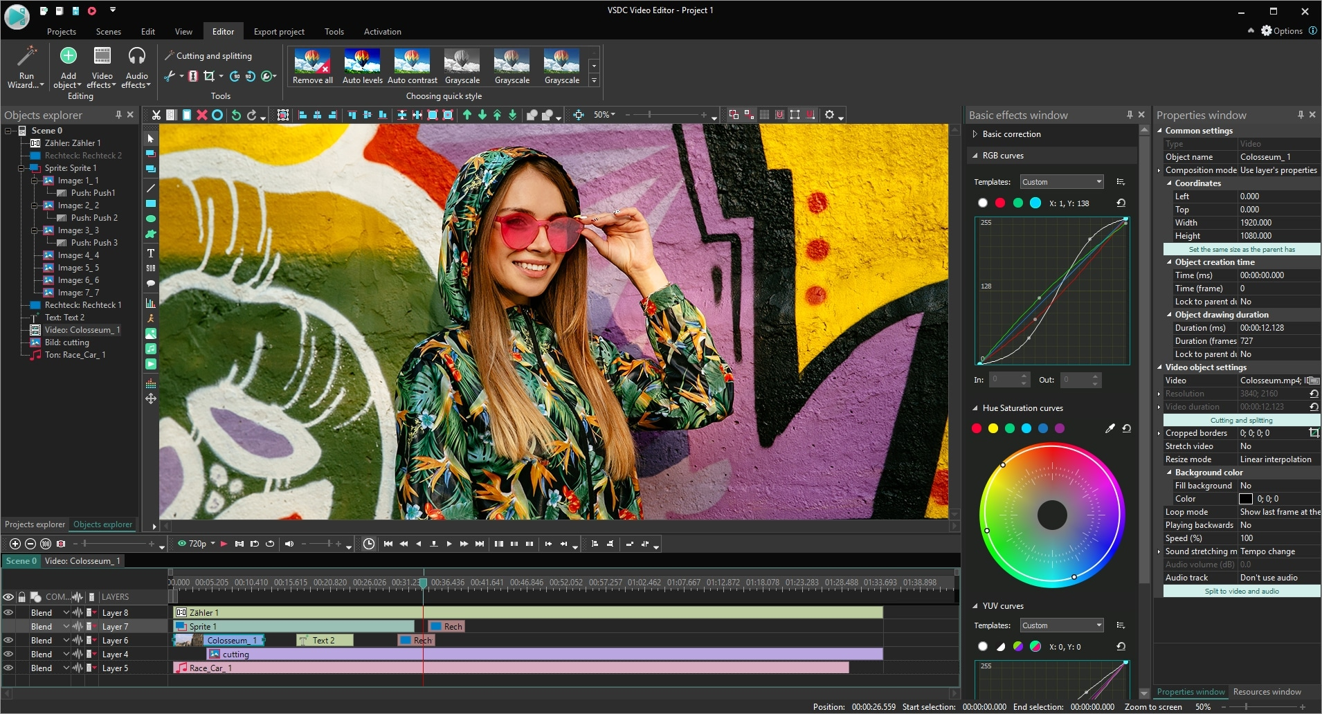 VSDC Pro Video Editor Lifetime License, Video Editing Software Screenshot