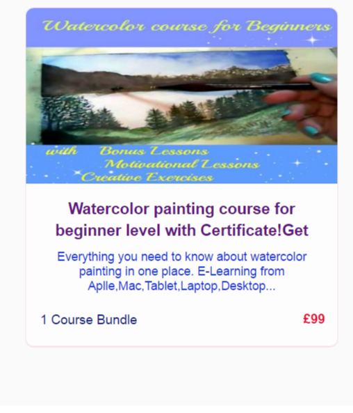 Watercolor painting course for beginner level Screenshot
