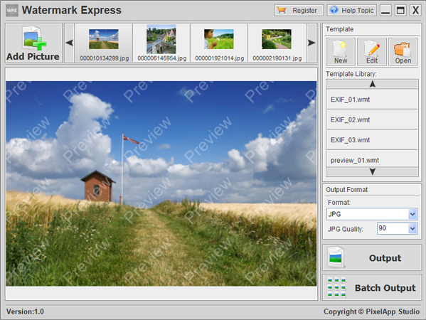 Watermark Software Screenshot