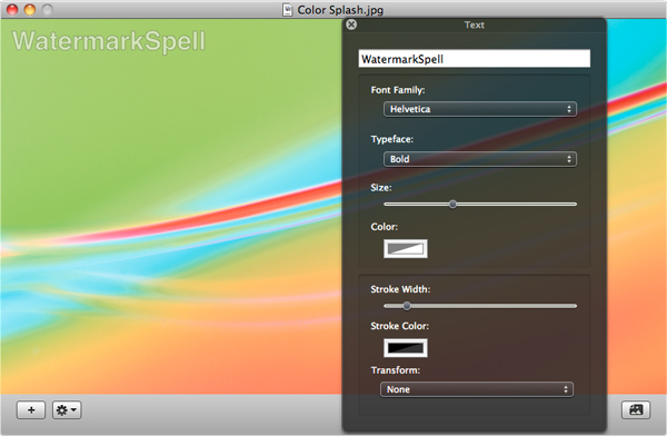 WatermarkSpell, Watermark Software Screenshot
