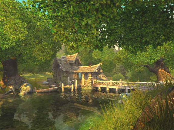 Watermill 3D Screensaver, Screensaver Software Screenshot