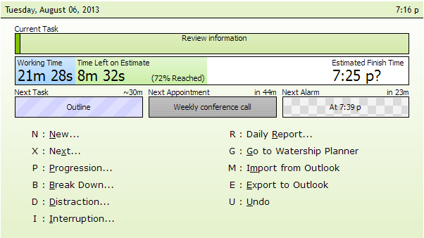 Watership Planner, Productivity Software Screenshot