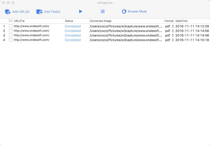 W3capture, Screenshot Software Screenshot