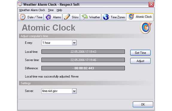 Desktop Customization Software, Clock Software Screenshot