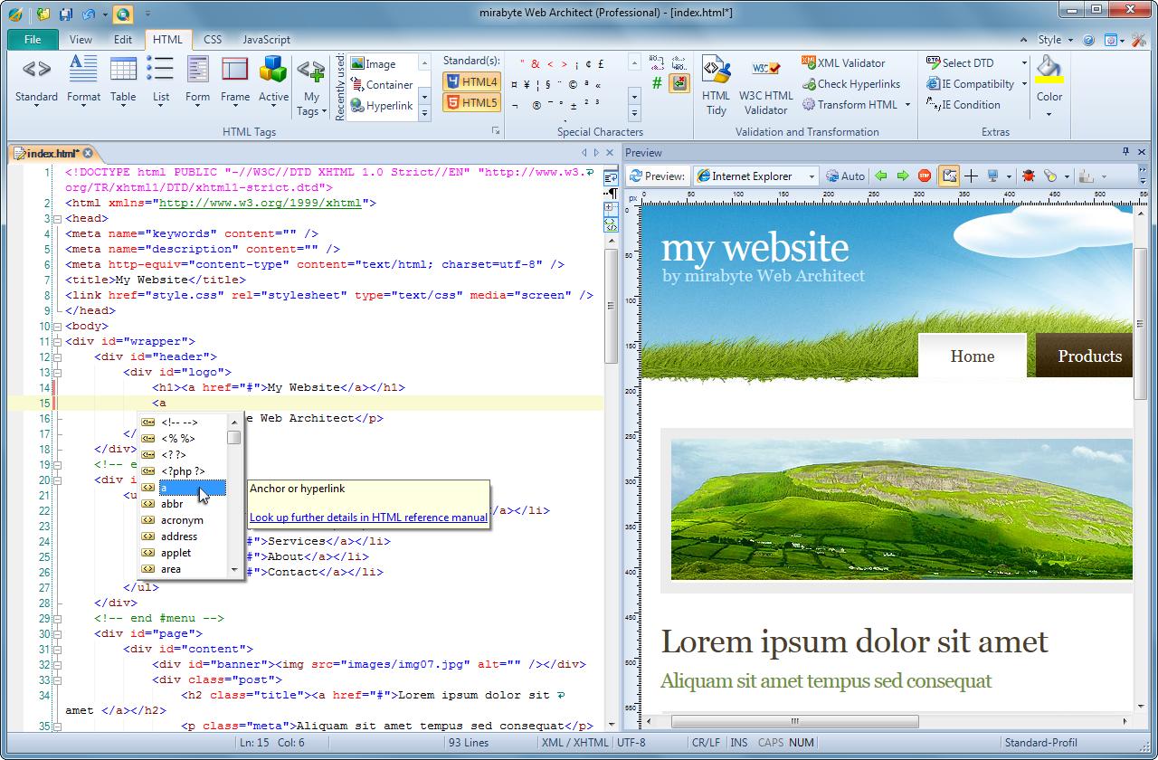 Web Architect 10 Professional Screenshot