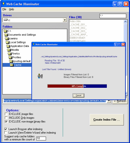 Web Cache Illuminator Screenshot