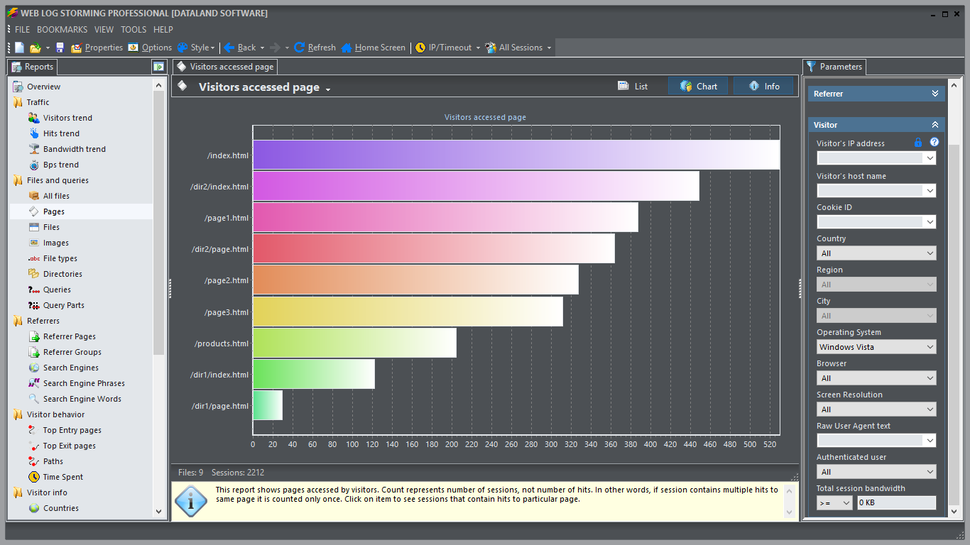 Web Log Storming, Web Development Software Screenshot