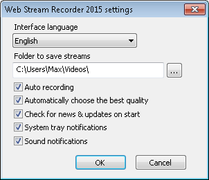 Web Stream Recorder, Internet Download Manager Software Screenshot