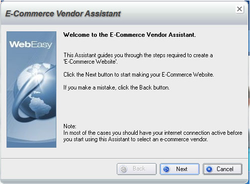 WebEasy Professional, Website Builder Software Screenshot