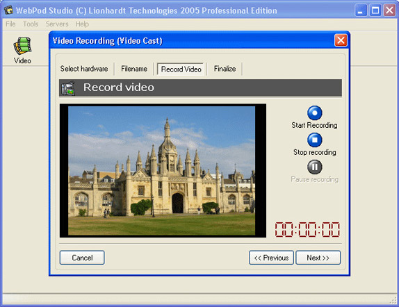 WebPod Studio, Audio Software Screenshot