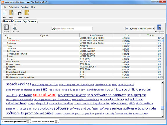 WebSite Auditor Professional Screenshot 9