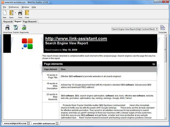 WebSite Auditor Professional Screenshot 8