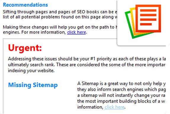 Website Insight, Development Software Screenshot