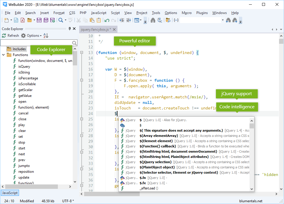 WeBuilder 2020, HTML Editor Software Screenshot