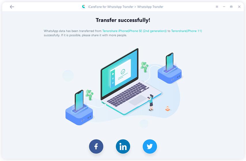 File Management Software, Tenorshare WhatsApp Transfer Screenshot