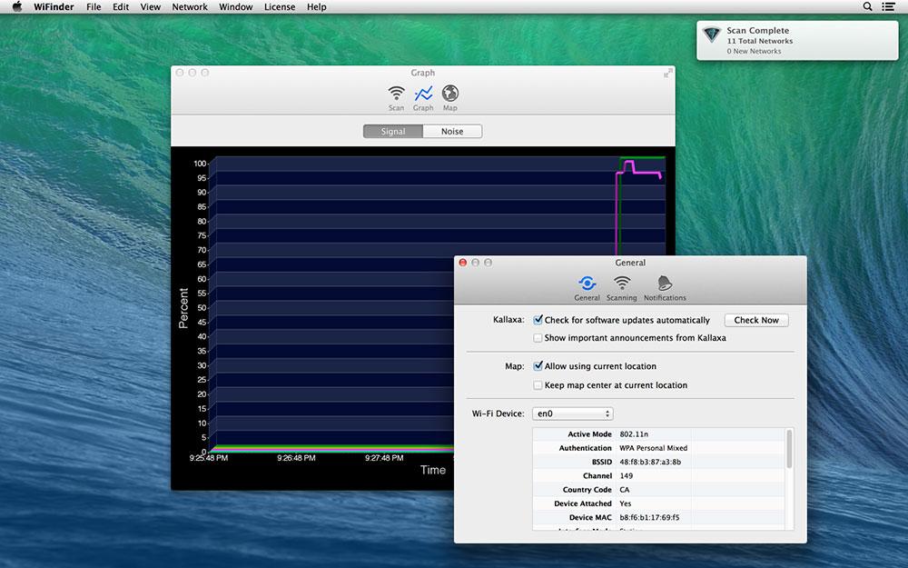 AirRadar, Internet Software Screenshot