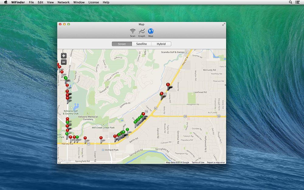 AirRadar, Network Connectivity Software Screenshot