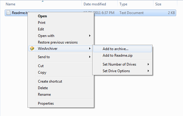 Compression and Extraction Software Screenshot