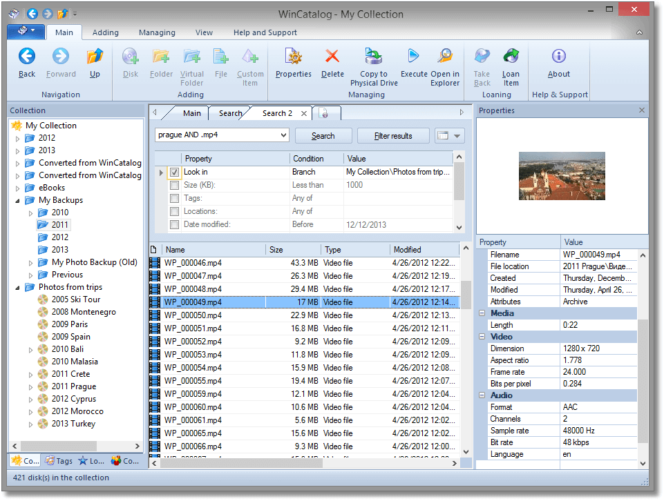 WinCatalog 2020 Professional, Cataloging Software Screenshot