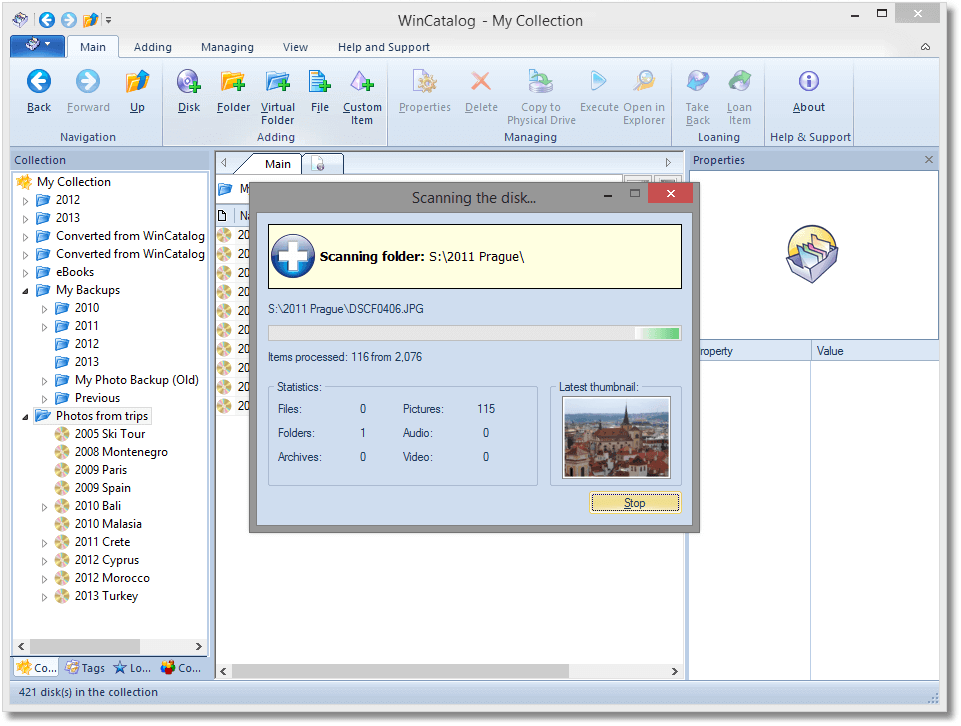 WinCatalog 2019 Professional, Hobby, Educational & Fun Software Screenshot