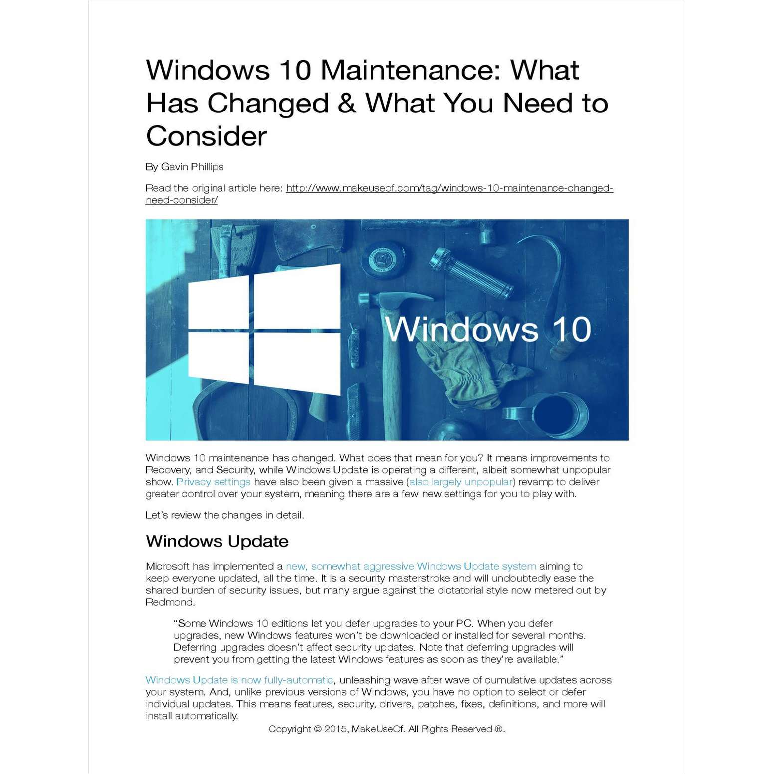 Windows 10 Maintenance: What Has Changed and What You Need to Consider Screenshot