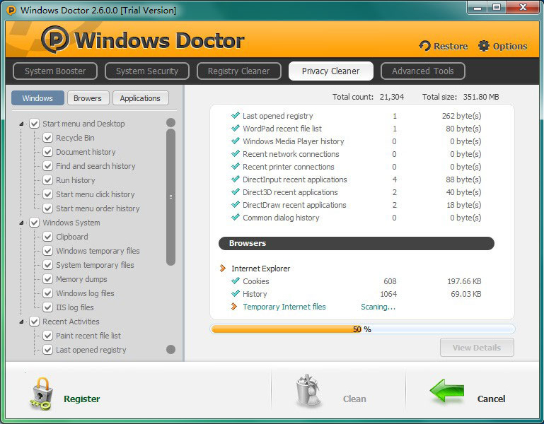 Windows Doctor (Lifetime 3 Computers), Software Utilities Screenshot