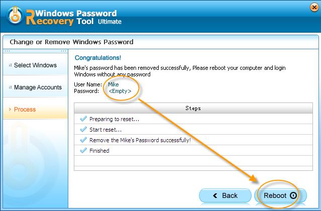 Windows Password Recovery Tool 3.0, Security Software Screenshot
