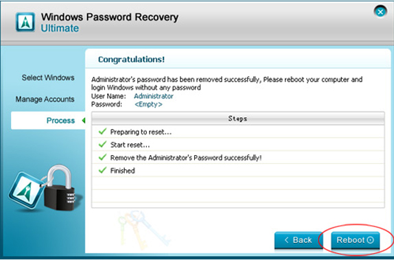Security Software, Windows Password Recovery Ultimate Screenshot