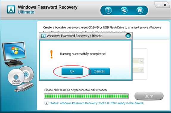 Windows Password Recovery Ultimate, Password Manager Software Screenshot