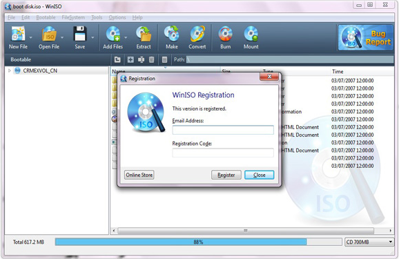 WinISO Standard 6 (1 year upgrades & support), File Management Software Screenshot