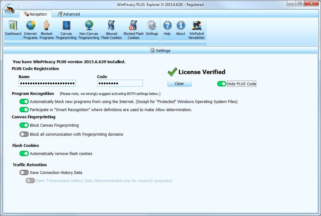 Internet Security Software, WinPatrol Firewall Screenshot