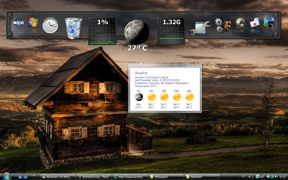 Desktop Enhancements Software, Winstep Xtreme Screenshot