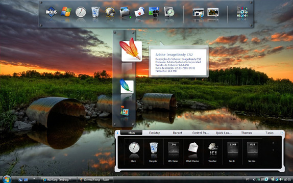 Winstep Xtreme, Desktop Enhancements Software Screenshot