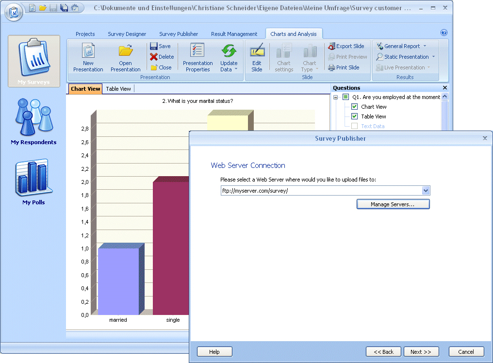 Business & Finance Software, WinSurvey Screenshot