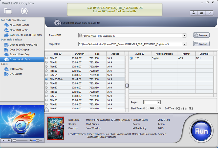 DVD Copy Software, WinX DVD Copy Pro Screenshot