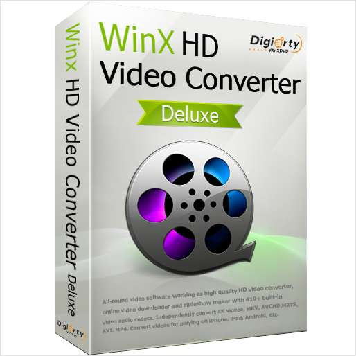 WinX HD Video Converter Deluxe for Win/Mac ($59.95 Value) FREE for a Limited Time Screenshot